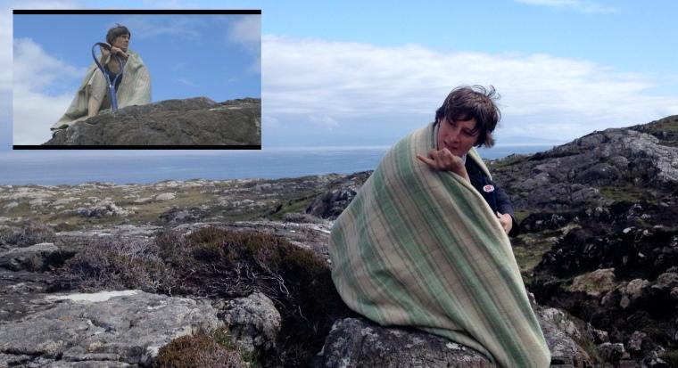 La couverture de laine jouera elle aussi dans le film (cf. médaillon)...