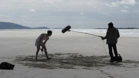 Shooting in Luskentyre : James et Romain en pleine prise de 'sons seuls'.