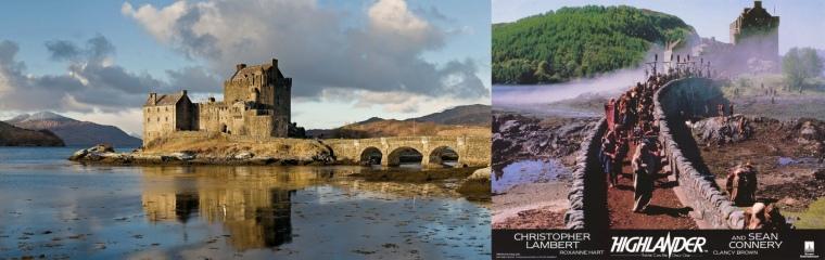 Nous saluons sur le retour Eilean Donan, château bien connu des cinéphiles 80's.